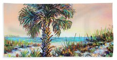 Cabbage Palm On Siesta Key Beach Bath Towel