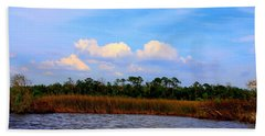 Cabbage Palms And Salt Marsh Grasses Of The Waccasassa Preserve Bath Towel