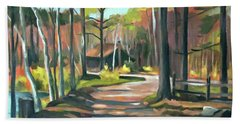 Cabin By The Lake En Plein Air Bath Towel