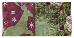 Cabin Christmas II Bath Towel