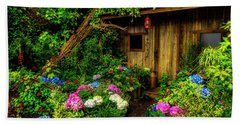 Cabin In The Garden Hand Towel