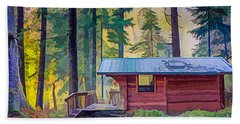 Cabin In The Woods Hand Towel