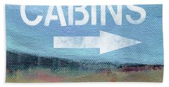 Cabins- Landscape Painting By Linda Woods Bath Towel