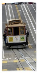 Hand Towel featuring the photograph Cable Car by Steven Spak