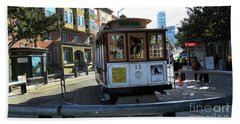 Cable Car Turnaround Hand Towel by Steven Spak