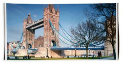 Cable-stayed Walk Way Over Bridge In London Bath Towel