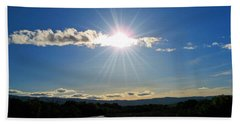 Hand Towel featuring the photograph Cache Creek Sunset by Jennifer Muller