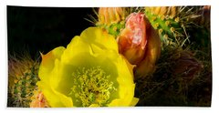Cactus Blossom  Bath Towel