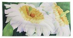 Bath Towel featuring the painting Cactus Flower by Teresa Beyer