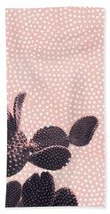 Cactus With Polka Dots Bath Towel