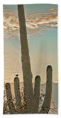 Cactus Wren Serenade Hand Towel