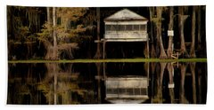 Caddo Lake Boathouse Bath Towel