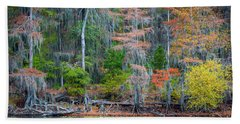 Caddo Lake Fall Foliage Hand Towel