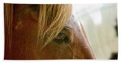 Cades Cove Horse 20160525_241 Bath Towel by Tina Hopkins