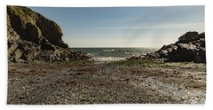 Hand Towel featuring the photograph Cadgwith Cove Beach by Brian Roscorla