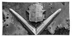 Cadillac Emblem On Rusted Hood Bath Towel