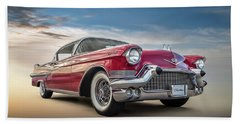 Bath Towel featuring the digital art Cadillac Jack by Douglas Pittman