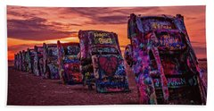 Cadillac Ranch At Sunrise  Bath Towel