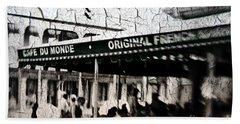 Cafe Du Monde Hand Towel by Scott Pellegrin