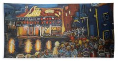 Cafe Scene At Night Hand Towel