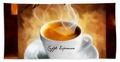 Caffe Espresso Bath Towel by Lourry Legarde