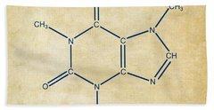 Caffeine Molecular Structure Vintage Hand Towel