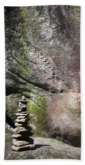 Cairn Rock Stack At Jones Gap State Park Hand Towel