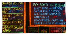 Cajun Menu Alligator Sausage Poboy - 20130119 Hand Towel