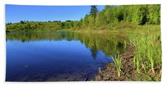 Bath Towel featuring the photograph Caledon Kettle Lake by Gary Hall