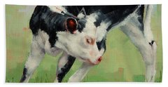 Calf Contortions Bath Towel by Margaret Stockdale