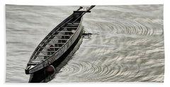 Bath Towel featuring the photograph Calgary Dragon Boat by Brad Allen Fine Art