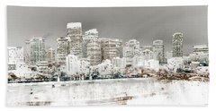 Bath Towel featuring the digital art Calgary Skyline 3 by Stuart Turnbull