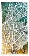 Cali Colombia City Map Hand Towel