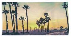 Cali Sunset Bath Towel by Az Jackson