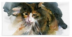 Calico Cat Bath Towel