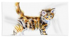 Calico Kitten Bath Towel