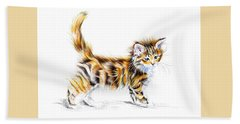 Calico Kitten Hand Towel