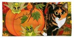 Calico's Mystical Pumpkin Hand Towel