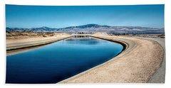 California Aqueduct At Fairmont Hand Towel