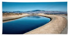 California Aqueduct At Fairmont Hand Towel