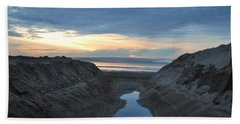 California Beach Stream At Sunset - Alt View Hand Towel