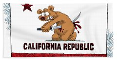 California Budget Harakiri Bath Towel