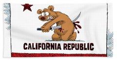California Budget Harakiri Hand Towel