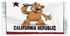California Budget Suicide Bath Towel