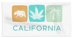 California Cannabis- Art By Linda Woods Bath Towel