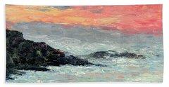 Bath Towel featuring the painting California Coast by Gail Kirtz
