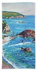 California Coastline Bath Towel