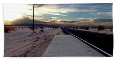 California Desert Highway Bath Towel