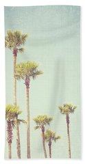 California Dreaming - Palm Tree Print Hand Towel by Melanie Alexandra Price