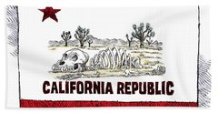 California Drought Bath Towel